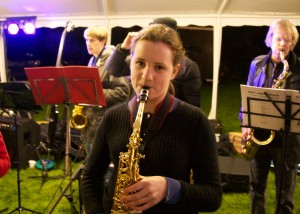 Emma plays the alto sax. She was recently in an equestrian event with Ellen and John Whittaker.